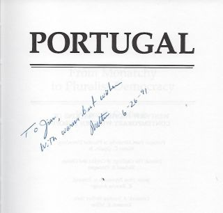 PORTUGAL FROM MONARCHY TO PLURALIST DEMOCRACY
