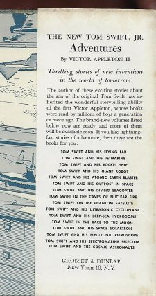 THE NEW TOM SWIFT JR. ADVENTURES: TOM SWIFT AND HIS OUTPOST IN SPACE