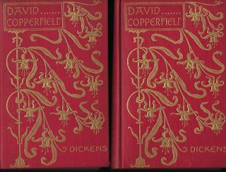 DAVID COPPERFIELD. TWO VOLUMES, ART NOUVEAU BINDING. Charles DICKENS