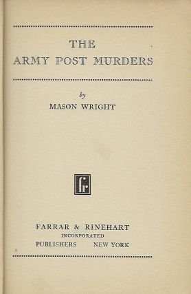 THE ARMY POST MURDERS