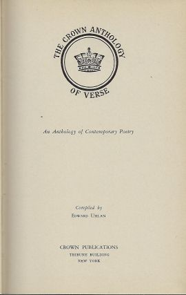 THE CROWN ANTHOLOGY OF VERSE. TWO VOLUMES.