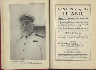 SINKING OF THE TITANIC: WORLD'S GREAT SEA DISASTER.