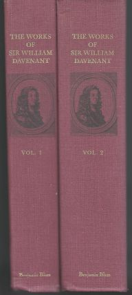 THE WORKS OF SIR WILLIAM DAVENANT. TWO VOLUMES.