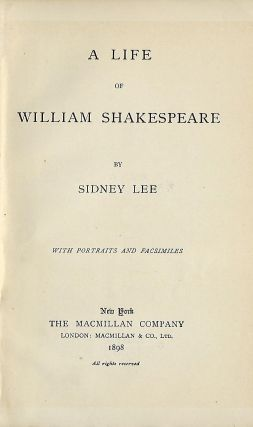 A LIFE OF WILLLIAM SHAKESPEARE