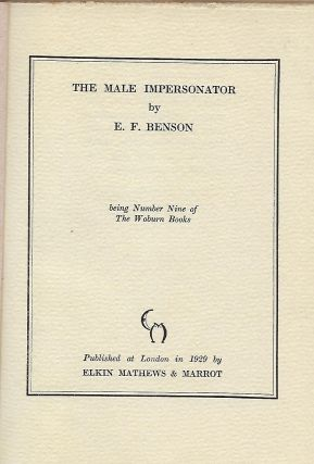 THE MALE IMPERSONATOR