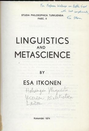 LINGUISTICS AND METASCIENCE.