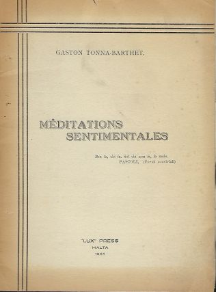 MEDITATIONS SENTIMENTALES. Gaston TONNA-BARTHET