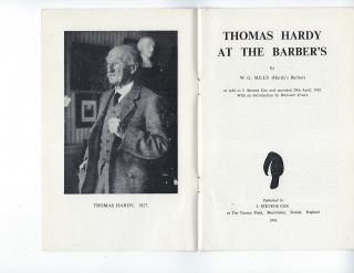 THOMAS HARDY AT THE BARBER'S