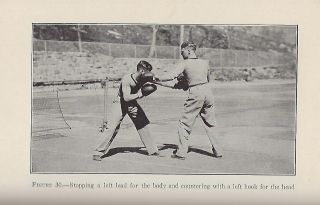 INSTRUCTIONS IN BOXING: BOTH INDIVIDUAL AND MASS FOR BEGINNERS AND THOSE WHO ARE ADVANCED IN THE MANLY ART OF SELF-DEFENSE. MASS BOXING AS IT SHOULD BE TAUGHT TO CLASSES OF BOYS OR MEN.