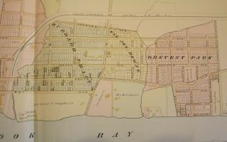 "ATLANTIC HIGHLANDS NJ MAP. FROM WOLVERTON'S ATLAS OF MONMOUTH COUNTY Wolverton's ""Atlas Of Monmouth County,"""
