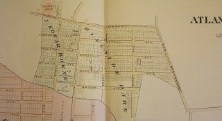 """ATLANTIC HIGHLANDS NJ MAP. FROM WOLVERTON'S ATLAS OF MONMOUTH COUNTY Wolverton's """"Atlas Of Monmouth County,"""""""