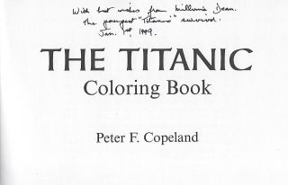 THE TITANIC COLORING BOOK BY PETER F. COPELAND