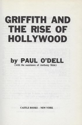 GRIFFITH AND THE RISE OF HOLLYWOOD