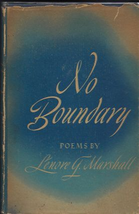 NO BOUNDARY. Lenore G. MARSHALL
