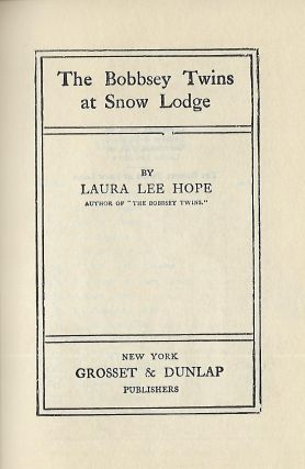 THE BOBBSEY TWINS AT SNOW LODGE
