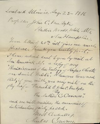 REMINISCENCES OF THE EULOGY OF CHOATE ON WEBSTER DELIVERED AT DARTMOUTH COLLEGE, JULY 26, 1853.
