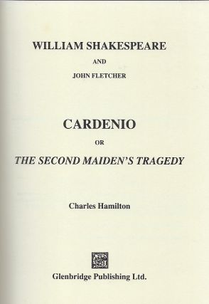 CARDENIO; OR THE SECOND MAIDEN'S TALE.