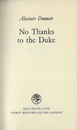 NO THANKS TO THE DUKE