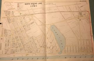 "NORTH SPRING LAKE AND COMO NJ MAP. FROM WOLVERTON'S ""ATLAS OF MONMOUTH COUNTY,"" 1889. Chester..."