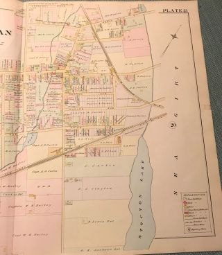 "BRIELLE/MANASQUAN NJ MAP FROM WOLVERTON'S ""ATLAS OF MONMOUTH COUNTY,"" 1889."