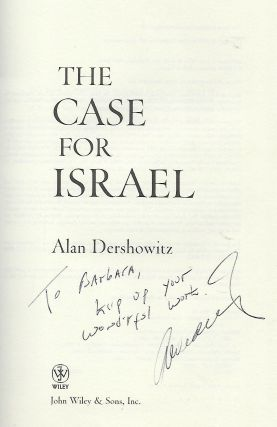 THE CASE FOR ISRAEL.