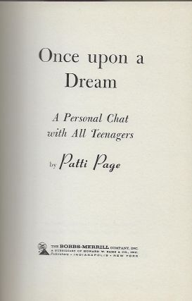 ONCE UPON A DREAM: A PERSONAL CHAT WITH ALL TEENAGERS.