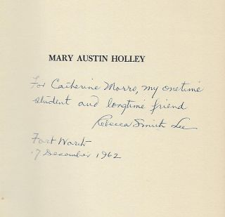 MARY AUSTIN HOLLEY: A BIOGRAPHY