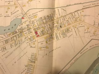 """EATONTOWN/ MONMOUTH PARK/ OCEANPORT. NJ MAP. FROM WOLVERTON'S """"ATLAS OF MONMOUTH COUNTY,"""" 1889."""