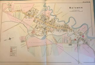 MATAWAN MAP, 1889. Chester WOLVERTON