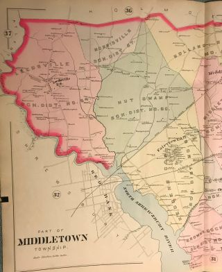 "PART OF MIDDLETOWN TOWNSHIP. From Wolverton's ""Atlas Of Monmouth County,"" 1889"