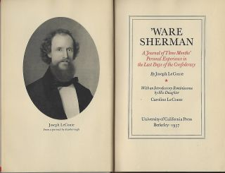 'WARE SHERMAN: A JOURNAL OF THREE MONTHS' PERSONAL EXPERIENCE IN THE LAST DAYS OF THE CONFEDERACY.