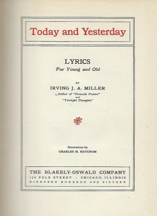 TODAY AND YESTERDAY: LYRICS FOR YOUNG AND OLD