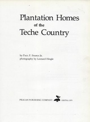 PLANTATION HOMES OF THE TECHE COUNTRY