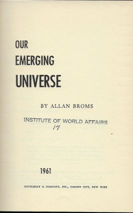 OUR EMERGING UNIVERSE
