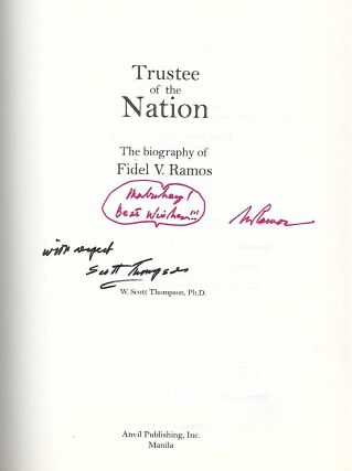 TRUSTEE OF THE NATION: THE BIOGRAPHY OF FIDEL V. RAMOS.