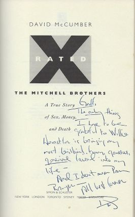X RATED: THE MITCHELL BROTHERS. A TRUE STORY OF SEX, MONEY, AND DEATH