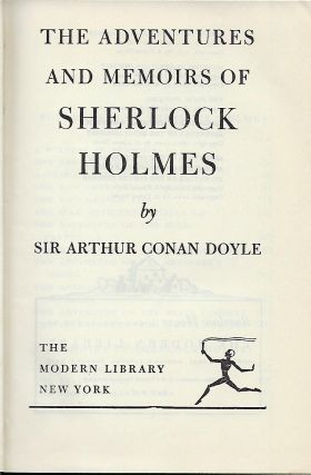 THE ADVENTURES AND MEMOIRS OF SHERLOCK HOLMES.