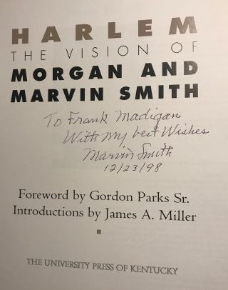 HARLEM: THE VISION OF MORGAN AND MARVIN SMITH.