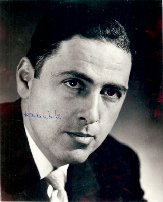 Signed Photograph. Herman WOUK
