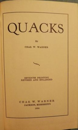 QUACKS. Charles W. WARNER