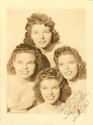 Signed Photograph. LITTLE SISTERS