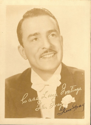 SIGNED PHOTOGRAPH. Glen GRAY
